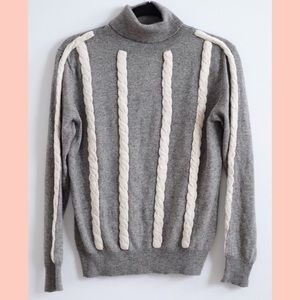 Grey cashmere turtleneck sweater NEW with tags